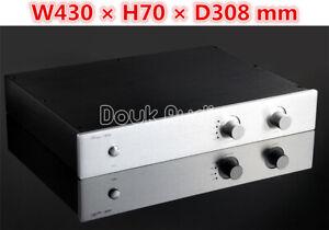 HiFi Preamplifier Aluminum Chassis Metal Case for Audio Preamp DIY Enclosure Box