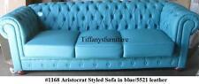 Gorgeous Aristocrat Styled Modern Blue PU Leather Sofa #1168