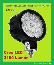 Arbeitsscheinwerfer 12 24V 27W CREE LED 2150lm Scheinwerfer Arbeitslicht Kfz Lkw