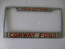 ConwayFord Youngstown Metal Tape  License Plate Frame   Dealership