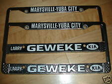 Marysville Yuba City CA Kia License Plate Frames Set Pair Tags Holder Embossed
