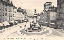 CPA 38 GRENOBLE LA PLACE NOTRE DAME (tramway
