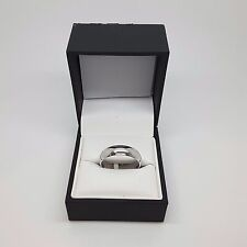 Miran Collections 160640 9K White Gold Ring apprx. 6mm Wide Size:U RRP $699