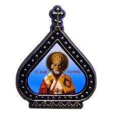 Icone religieuse Saint Nicolas le Thaumaturge, petite Icone chrétienne russe