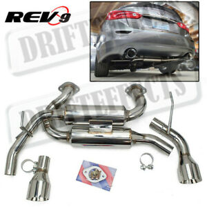 Rev9 FlowMaxx Stainless Axle-Back Exhaust 60mm Pipe For Infiniti Q50 2014-2020
