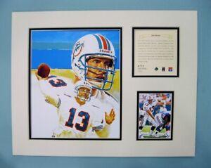 Miami Dolphins Dan Marino 1996 NFL Football 11x14 MATTED Kelly Russell Print
