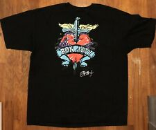 Men's Hard Rock Cafe Chicago: 2008 Bon Jovi XL Black T-shirt T68