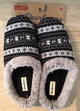 Dearfoams $28 Knit Clog Memory Foam Slippers Women's XL 11-12 Black Multi NWT