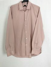 """Paul Smith Nude Pink Long Sleeve Shirt Collar Size 17.5"""" Chest 44"""""""