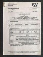 MAE Felgen Gutachten Teilegutachten R230 W230 9 9,5 10,5 x 20 ET36, ET40 & ET42
