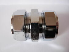 Compression Coupling 42mm Chrome - 42mm Compression Connector Chrome