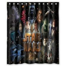 new Star wars shower curtain 60 x 72 inch waterproof with hooks