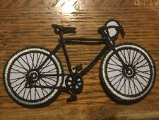 """Bicycle Embroidered Patch Sew/Iron On 3.5"""" x 2"""" Bike"""