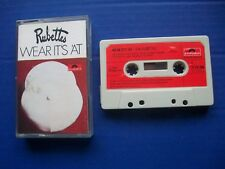 The Rubettes - Wear It's 'At  Audio Cassette Tape. Made In UK. 1974 Polydor EX