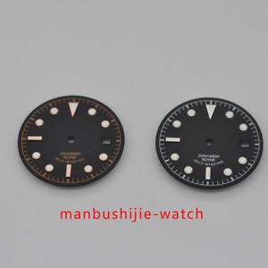 30.4mm Black Sterile Watch Dial for Unitas ETA 2824/2836 Automatic Movement