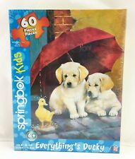 """Springbok Kids Everything's Ducky Puzzle - Puppies Duckling 60 Pcs 13.5"""" x 19"""""""