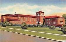 Longview Texas Christian Church Curt Teich Sample Linen Antique Postcard J67087