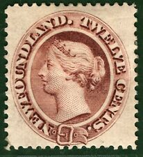 Canada NEWFOUNDLAND QV Stamp SG.28 12c Red-brown (1865) LMM Cat £650 GBLUE10