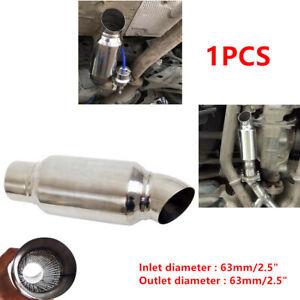 "Universal Car 2.5"" Inelt Outlet Stainless Steel Exhaust Muffler Resonator 89mm"