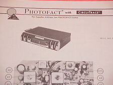 1972 AUTOMATIC FM-MPX RADIO SERVICE MANUAL MXR-8404 CHEVROLET FORD CHRYSLER
