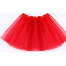 Kid Girls Dancewear Party Costume Multicolor Tulle Tutu Skirt Princess Dressup