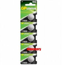 GP CR2025 CR 2025 3V Button Coin Cell Battery x 5pcs Made in Japan EXP2027
