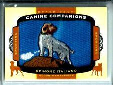 2017 U.D.Goodwin Champions Canine Companions Patch/Relic # Cc35 Spinone Italiano