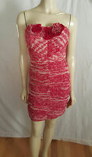 Max and Cleo Strapless Crimson Formal Dress NWT size 8