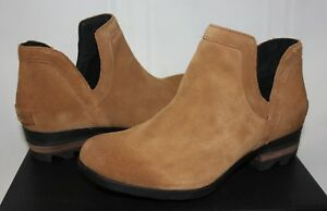 Sorel Women's Lolla Cut Out Booties Camel Suede New With Box