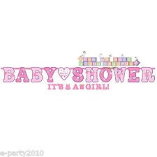 SHOWER WITH LOVE GIRL JUMBO LETTER BANNER ~ Baby Party Supplies Decorations Pink
