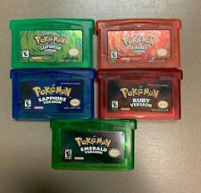 GBA Pokemon Ruby, Sapphire, Emerald, Firered, Leaf Green - Repro *You Choose*