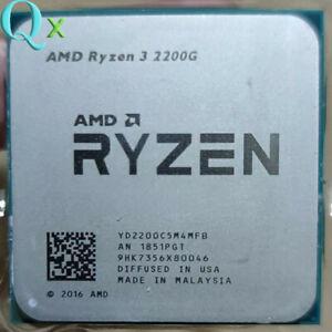 AMD Ryzen 3 2200G CPU Processor R3 2200G 4C 4-Thread Socket AM4
