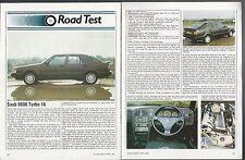 1986 SAAB 9000 Road Test article, SAAB 9000 Turbo, from British auto magazine