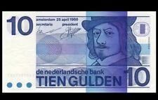 1968 Netherlands 10 Gulden <P-91b> GEM UNC