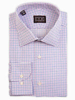 Ike by Ike Behar Men's Trim Cut Check Dress Shirt   Pink & Blue