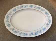 "Noritake Ivory China Splendor # 7235 Blue & Lilac 11 1/2"" Oval Serving Platter"