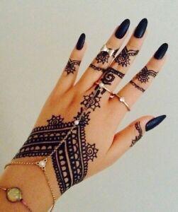1 Prem Dulhan Brown Henna Cone Temporary Tattoo Body Art Ink