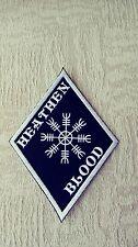 Heathen Diamond Patch HARLEY Outlaw biker 1%er Viking, Thor Helm of Awe Black