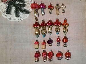 Vintage Christmas Mercury Glass Ornament Mushroom Silver Toadstool USSR 50s