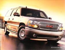2003 03 GMC Yukon & Yukon Denali original  Brochure