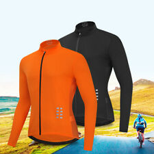 Mens Cycling Jersey Breathable Bicycle Sportswear Tops Long Sleeve Cycle Shirt