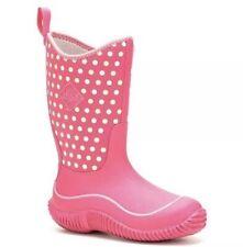 Muck Boot Company Hale Pink Polka Dot Waterproof Big Kids All Season Boots Sz 3
