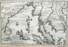 SCHEEPS TOGT VAN MALACCA NADE GOLF VAN BENGALE KUSTEN VAN SIAM CHINA OLD MAP