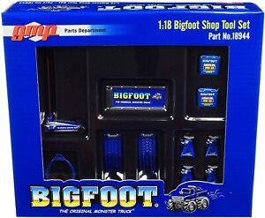 GMP 18944 BIGFOOT The original Monster Truck Shop tool set number 2 blue 1:18th