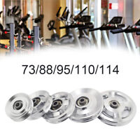 Gym Fitness Equipment Aluminum Bearing Pulley Wheel Cable 73/88/95/110/114mm