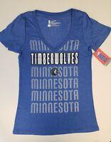 Minnesota Timberwolves Womens Short Sleeve Mesh Burnout T-Shirt | SZ Small | NWT