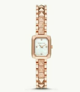 NWT Michael Kors MK4560 Women's Alane Mother of Pearl Dial Square 22mm Watch