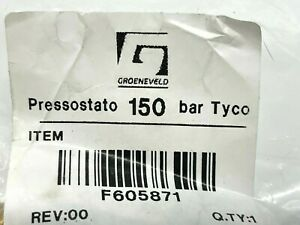 GROENEVELD Pressure Switch To 150 BAR F605871 Free Expedited Shipping