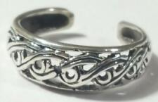 Braided Toe Ring Adjustable 925 Sterling Silver # 20