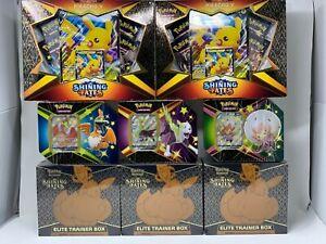 Pokemon TCG Shining Fates ETB Elite Trainer Box Pikachu V Boltund Eldegoss Tin